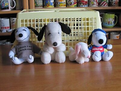 Snoopy / Peanuts Plush Toys  Lot Of 4 Box 4
