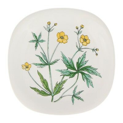 A Rorstrand buttercup wall plate Swedish floral pottery