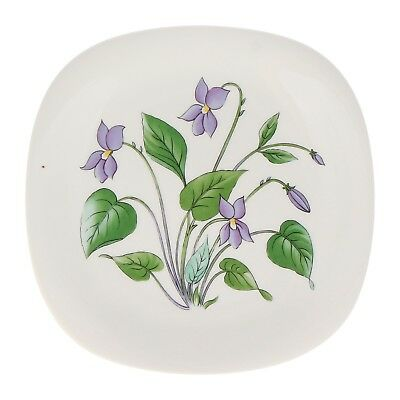 A Rorstrand Violet wall plate Swedish floral pottery