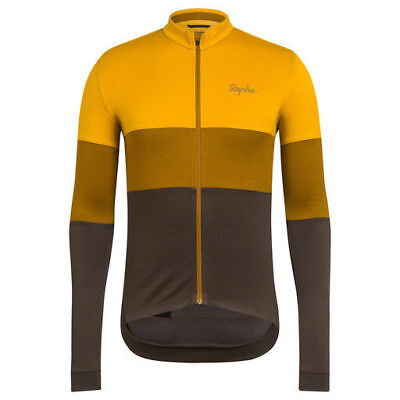 Rapha Gold Long Sleeve Tricolour Jersey. Size Small. BNWT.