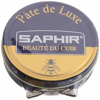 Saphir Shoe Polish WAX - Pate De Luxe - 50 Ml - Made in France NAVY BLUE