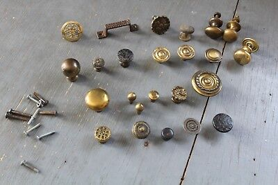 Mixed Lot 24 Antique Vintage  Knob Furniture Dresser Drawer Pull Handle Hardware