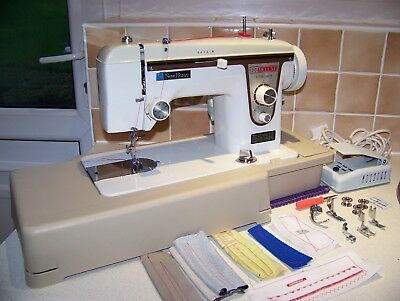 Solid Janome Newhome Deluxe Z/z Semi Industrial Sewing Machine,case,acc,serviced