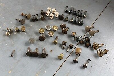 Mixed Lot 54 Antique Vintage  Knob Furniture Dresser Drawer Pull Handle Hardware