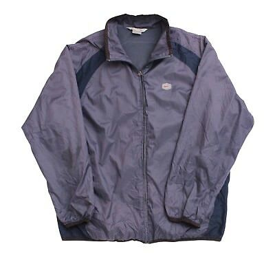 e961a8dd9a MENS NIKE JACKET Navy Blue Polyester Y2K Zip Up Windcheater Large ...