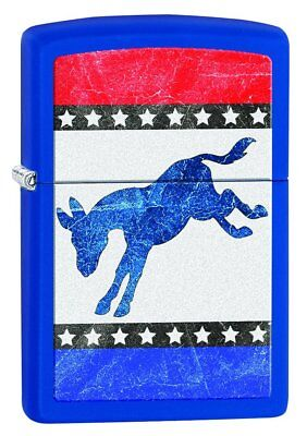 Zippo Democratic Donkey Pocket Lighter, Royal Blue Matte