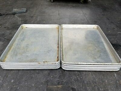 "Commercial 13"" x 18"" 1/2 Size Aluminum Sheet Pan- Bakery,Restaurant Lot of 5"
