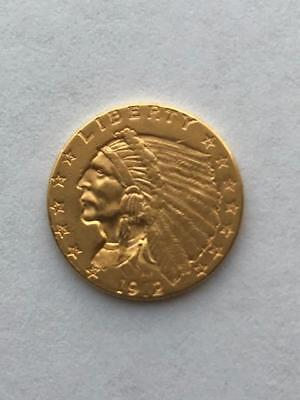 Ungraded 1912-P $2.5 Indian Head Gold Coin. !! NR.!!