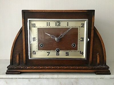 Vintage 'Art Deco' MANTEL CLOCK with Westminster Chimes. In working order