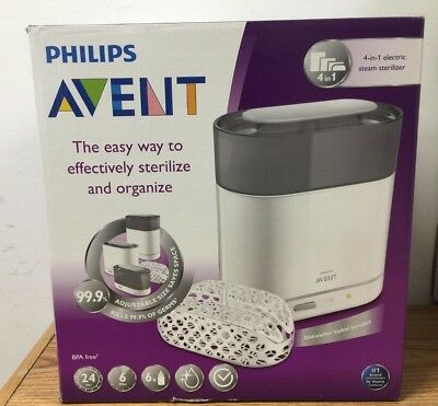 Philips AVENT 4-in-1 Electric Steam Sterilizer, New , Free Shipping