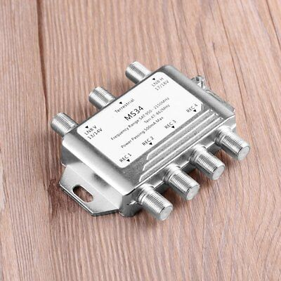1/2/5PCS MS34 3X4 Satellite Multiswitch Splitter FTA TV LNB Satellite Switch P1