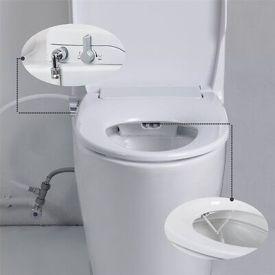 No Electricity toilet bidet seats Cover with Dual Nozzles Sprayer  Rear Washing