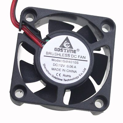 12V Cooling Computer Fan Small 40mm x 10mm DC Brushless 2-pin RepRap