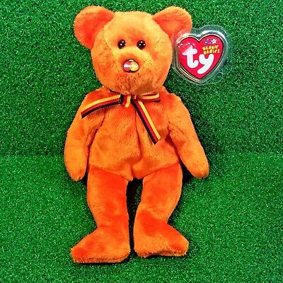 NEW Ty Beanie Baby MasterCard Beanie III Retired Plush Bear MWMT - FREE Shipping