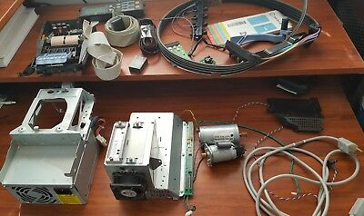 Hp Designjet 500 C7769B Lot Of Parts Power Supply, Accessory Card, Ink Tubes
