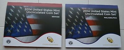 2014 P & D US MINT SET 28 Coins Uncirculated Philadelphia & Denver U14