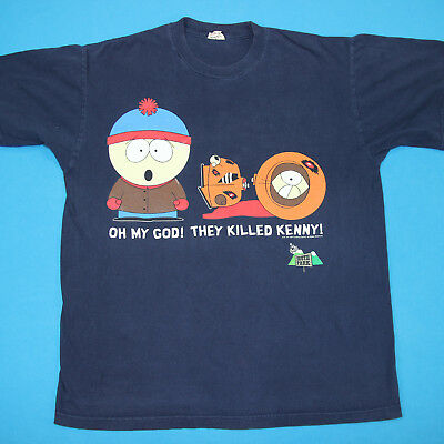 Vintage 90s SOUTH PARK Comedy Central Stan Killed Kenny Original Tee T Shirt XL