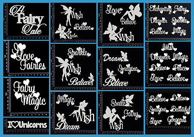 White Chipboard - Fairy Word Sets