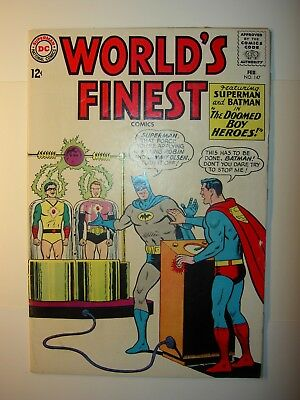 World's Finest #147 GD+,#159 GD/VG,164 GD/VG,180 VG-,Batman & Superman, lot of 4