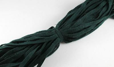 100% Wool Up-cycled #8 Strips - Qty 50 - Hunter Green