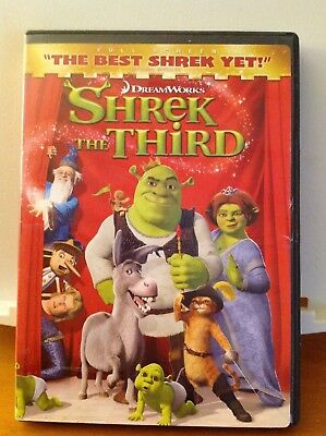 Shrek The Third (DVD, 2014) Full Screen Edition
