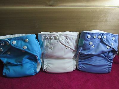 New Charlie Banana One Size Cloth Pocket Diaper Lot of 3 With Med/Large Insert