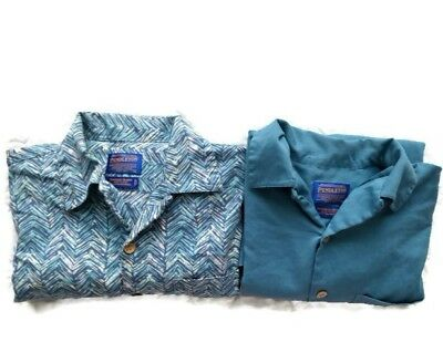 Pendleton Bamboo Shirts Mens Size Large Lot of Two