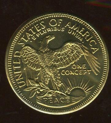 Liberty | Gold Toned Concept Dollar | Gallery Mint | Ron Landis, 2000 (MG1797)