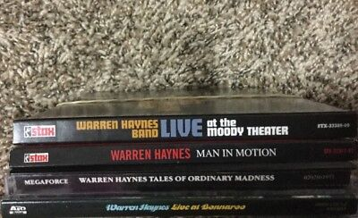 Lot Of 4 CDs - WARREN HAYNES BAND - AUTOGRAPHED- Live At The Moody Theatre,