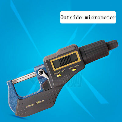 "LCD Digital Electronic Outside Micrometer Caliper 0-25mm/0-1"" 0.00005""/0.001mm"