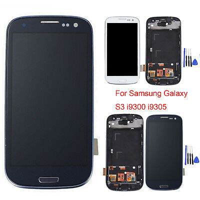 Display LCD Touch Screen Digitizer + Frame per Samsung Galaxy S3 i9300 i9305 #bk