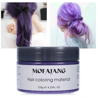 Purple Disposable Hair Color Wax Mud Dye Hair Wax FASHION Style Wax 120ml SG