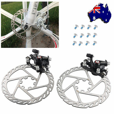 【AU】 Mountain Road Bike Mechanical Disc Brake Front Rear Caliper Rotors 160mm