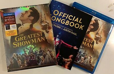 The Greatest Showman Blu Ray Dvd 2 Disc Set Walmart Exclusive +Official Songbook