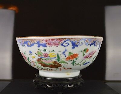 An 18Th Century Chinese Large Famille Rose Bowl