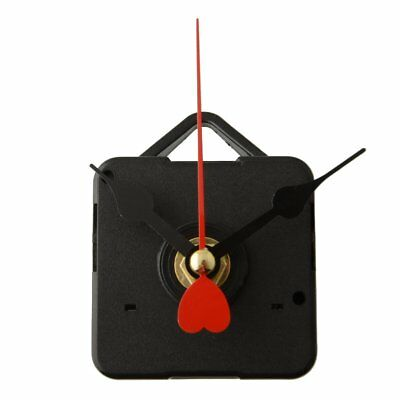 Goodly Replacement Clock Movement with Hook Red Metal Heart Hands DIY