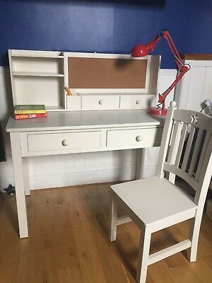 Childrens White Desk With Chair And Shelf Unit Feather Black