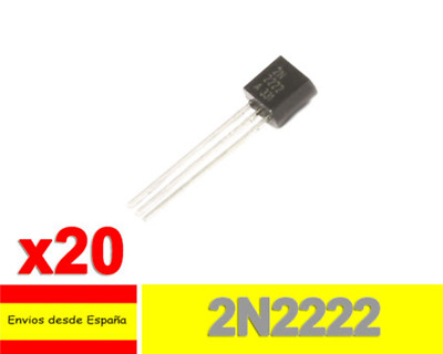 20x 2N2222 Transistor NPN 40V 800mA 300MHz Small Signal Switching TO-92 T0006