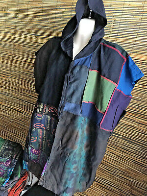 Lot of 5 cotton STONEWASH PONCHO/hoodie.Fit all.UNISEX.Special reduced price.