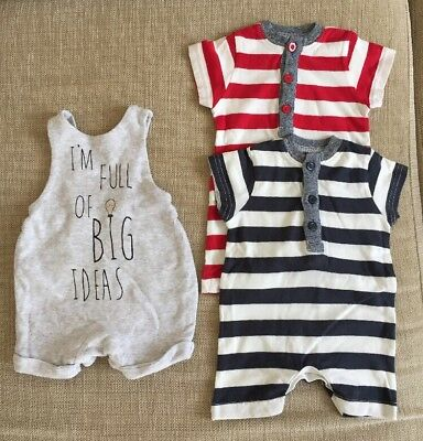Next Boys Bodysuits, Baby K Dungarees Up To 1 Months