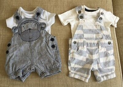 New Next, F&F Outfits Up To 1 Months Dungarees, Tops