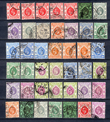 Hong Kong China Kgv Selection Of Used Stamps Pmk Interest