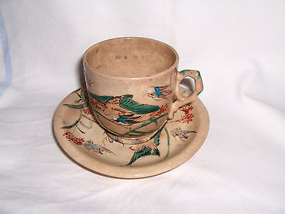 old small chinese cup and saucer