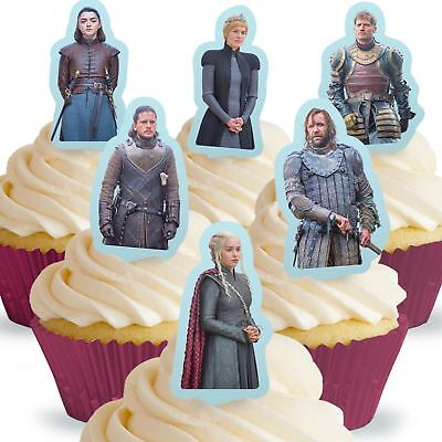 Cakeshop 12 x PRE-CUT Game of Thrones Stand Up Edible Cake Toppers