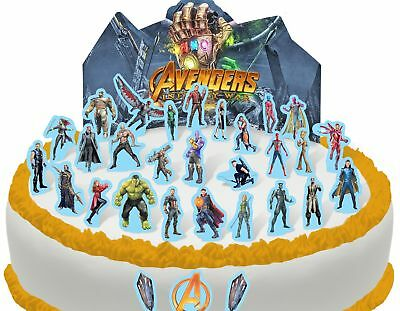 Cakeshop PRE-CUT Avengers Infinity War Edible Cake Scene - 37 pieces