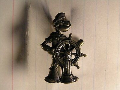 Pewter/Bronze Popeye Jacket or Lapel Pin -(Clasp Hinged Pin & Catch)