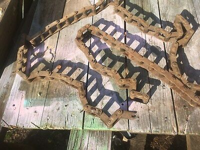 Vintage Industrial Large Heavy Machine Cog Chain 9ft Steam Punk Art