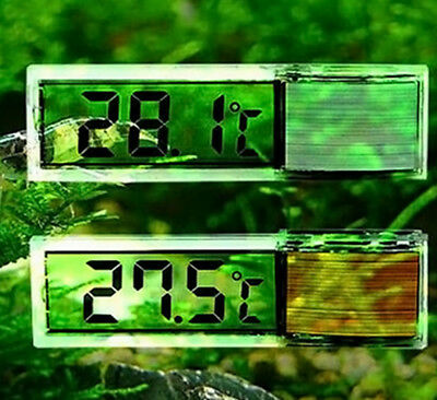 LCD 3D Crystal Digital Electronic Aquarium Thermometer *BRAND NEW* UK SELLER