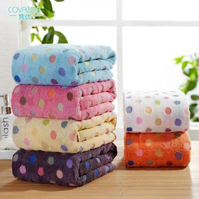 Polka dot pure cotton bath towel to thicken adult bath towel soft absorb water