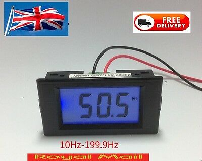 AC80-300V Digital LCD Frequency Meter Tester Gauge Cymometer 10-199.9Hz  UK #M28